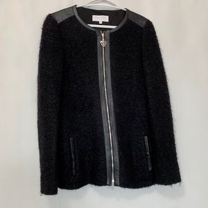 """ESCADA SPORT"" Knitted Cardigan with Leather Trim"
